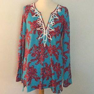 Lilly Pulitzer cotton knit tunic, sz S